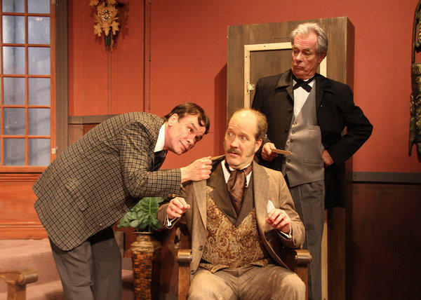 Inspector Lestrade (Patrick Burke), Dr. Watson (Bert Emmett) and Sherlock Holmes (Chris Winfield) face the final problem of ¿Sherlock¿s Last Case.¿