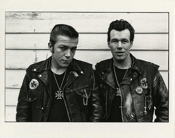 "A photograph from Danny Lyon's ""The Bikeriders"" series."