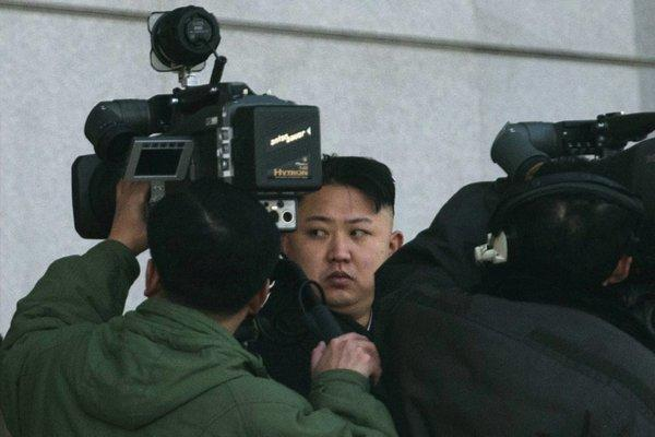 North Korean leader Kim Jong Un attends a ceremony in Pyongyang on Monday.