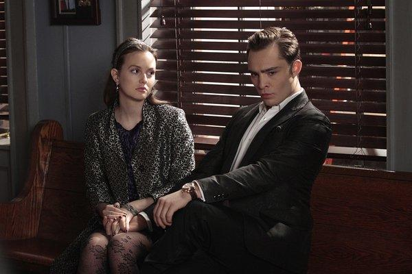 "Leighton Meester and Ed Westwick in a scene from ""Gossip Girl."""