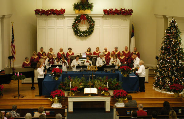 The Kirk Ringers perform during a service at the First Presbyterian Church of Harbor Springs.