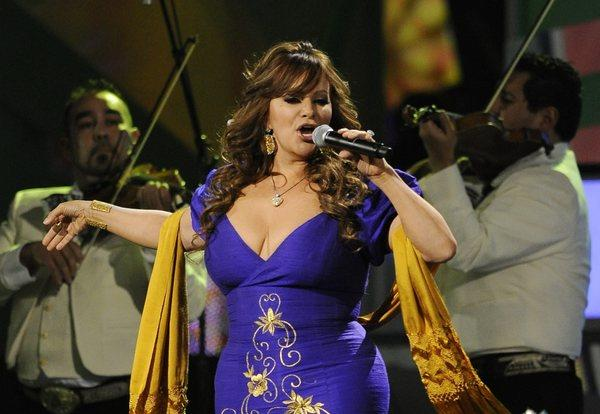 Jenni Rivera performs at the Latin Grammy Awards in Las Vegas in 2010.