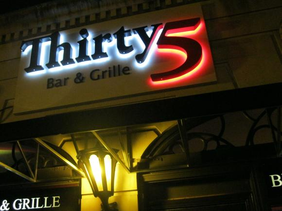 Thirty5 will be donating part of their dining room proceeds