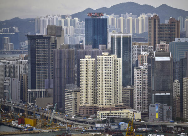 Rent for office space in densely developed Hong Kong averages $246 per square foot per year, the highest in the world.