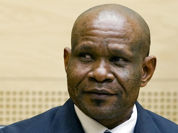 Congolese ex-militia boss Mathieu Ngudjolo listens to the verdict on his trial at the International Criminal Court in The Hague.