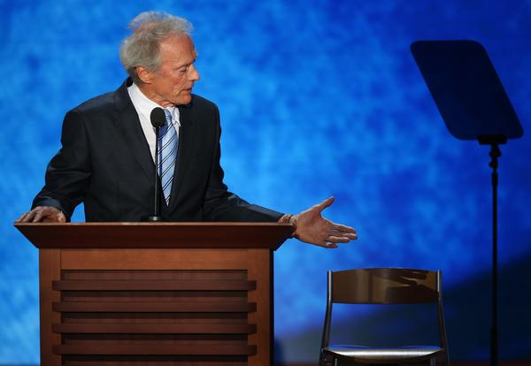 """What do you want me to tell Romney? I can't tell him to do that. I can't tell him to do that to himself."" <br><br> - Clint Eastwood, speaking to the most vulgar empty-chair-that's-supposed-to-be-Obama known to man."
