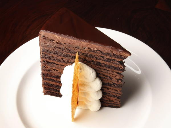 "The 23-layer chocolate cake at <a href=""http://chicago.metromix.com/venues/mmxchi-michael-jordans-steak-house-venue-1"">Michael Jordan's Steak House</a>, 505 N. Michigan Ave."