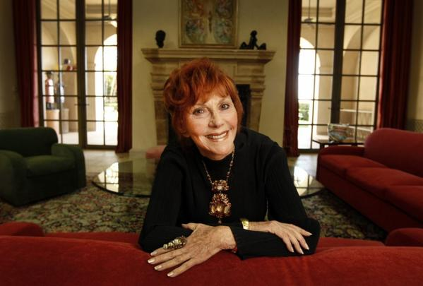 Philanthropist Glorya Kaufman photographed at her Beverly Hills home. Kaufman made a groundbreaking donation to USC to create a school of dance.
