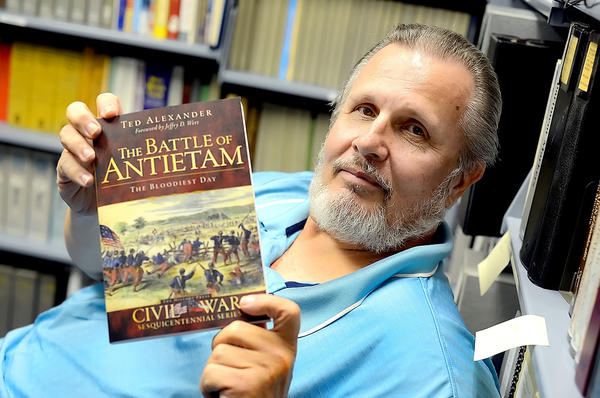 Ted Alexander will sign copies of his newest book ¿Battle of Antietam: The Bloodiest Day¿ from 11 a.m. to 2 p.m. Saturday, Dec. 22, at Hagerstown Visitor Welcome Center, 6 N. Potomac St., downtown Hagerstown.