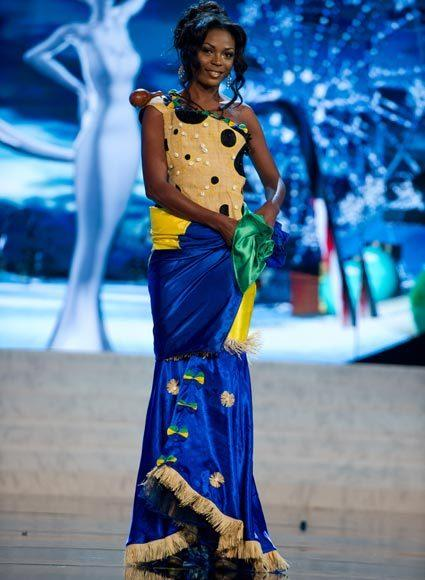 Miss Universe 2012 National Costume Pictures: Chann Divouvi, Gabon
