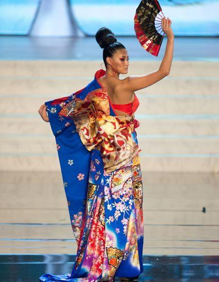 Miss Universe 2012 National Costume Pictures: Ayako Hara, Japan