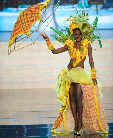 Miss Universe 2012 National Costume Pictures: Tara Edward, St. Lucia