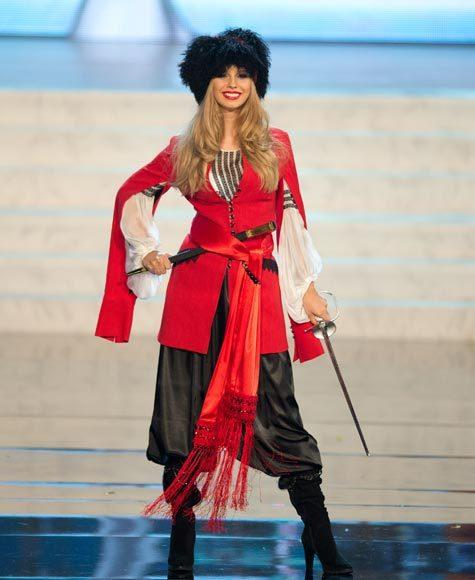 Miss Universe 2012 National Costume Pictures: Anastasia Chernova, Ukraine