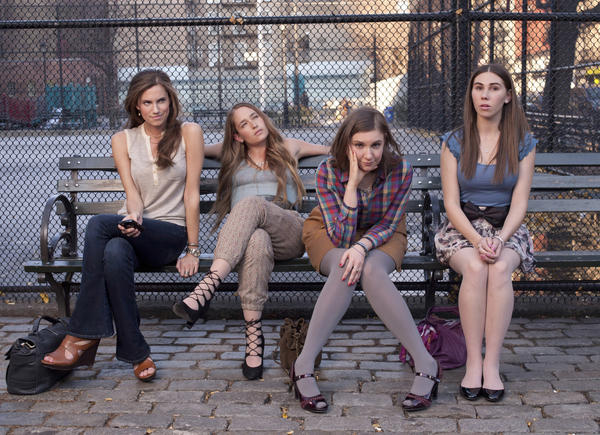 "<b>7. ""Girls""</b> <br><br> Once you get past the hipster-smug twee-ness of it all, Lena Dunham's daringly different comedy is sheer perfection, where motivation-less 20-somethings talk and act like motivation-less 20-somethings ... and yet we still want to watch. Every actor, from Zosia's Mamet's naive Shoshanna to Adam Driver's sublimely odd Adam (drinking milk on the toilet) is an awkward pleasure to watch. Also awkward: the sex. All of it."