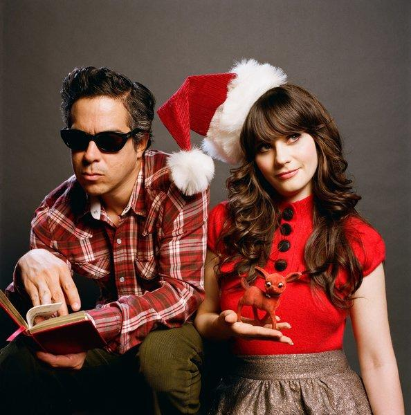 "M. Ward and Zooey Deschanel, as She & Him, have released a new video for their recording of ""Baby, It's Cold Outside."""