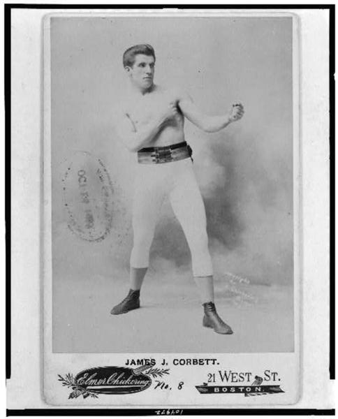 <i>Above: James Corbett circa 1897.</i><br><br>
