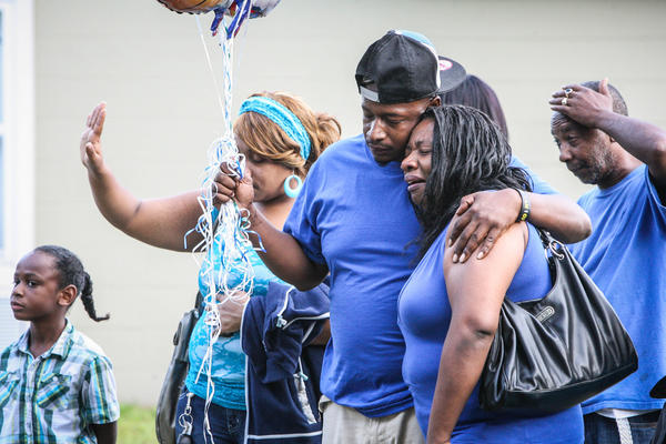 Friends and family of Danielle Sampson gathered at The Well of Hope church in Pine Hills for a Prayer Vigil on Wednesday, August 1, 2012. Sampson, a 15 year old student of Apopka high school is in intensive care after being shot in the back of the head while riding with her parents through Pine Hills on Sunday.