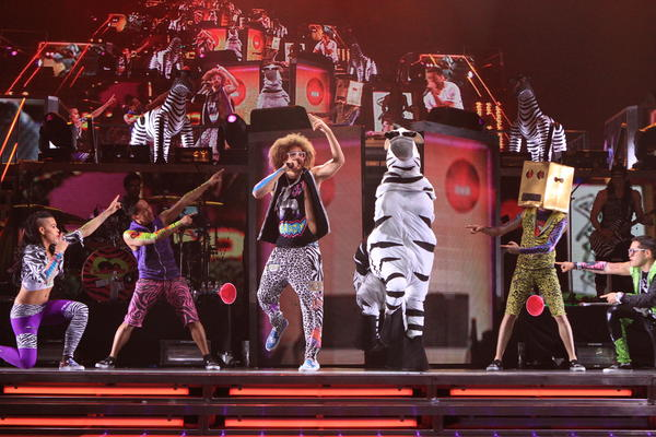 LMFAO performs in concert at Amway Center in Orlando, Fla. on Saturday, June 23, 2012.