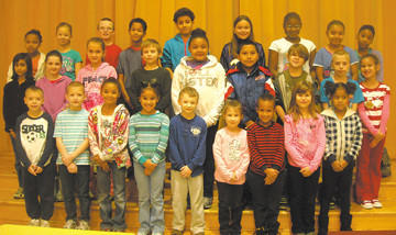 Salem Avenue Elementary students were named students of the month for December by their classroom teachers. Row one, from left, Jackson Bennett, Declan Drust, Kyrah Epps, Jinecia Milton, Cody Knodle, Cheyenne McCarney, Donovan Baldwin, Gabriela Galaviz and DMya Brunson. Row two, Sadia Farooq, Kathryn Carroll, Cheyenne Price, Hayden Kochera, Nevaeh Grey, Jayden Polar, Cameron White, Jeremiah Wolfe and Asia Hoffman. Row three, Aaliyah Brooks, Jade Stewart, Collin Shew, Journey Reed, Delvin Vasquez, Kylee McKenrick, Diamona Jacobs, Shakira Scott Harris and Maia Naylor. Absent from photo are Naomi Powell, Samantha Burke, Kyra Degrange and Anjelena Sellers.