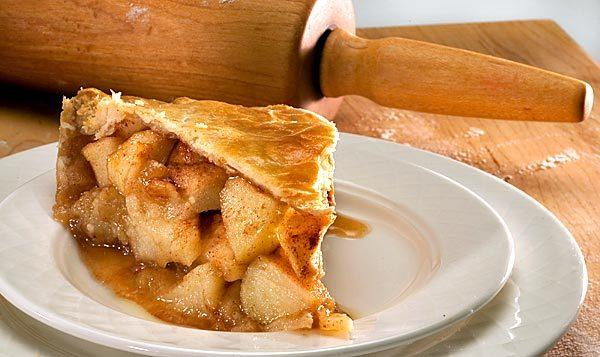 Cut into it and this award-winning apple pie is all about the fruit, generous hunks of gently baked apple, its pure, clean flavor enhanced by a sweet, spicy glaze.