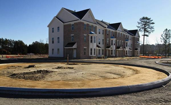 The Nelson's Grant mixed-use development in in York County near Fort Eustis Boulevard is under construction.