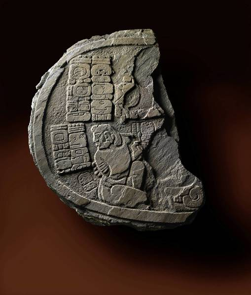 This stone fragment found in Belize is from the Mayan civilization, which stretched from Mexico to El Salvador. It is housed at the Field Museum.