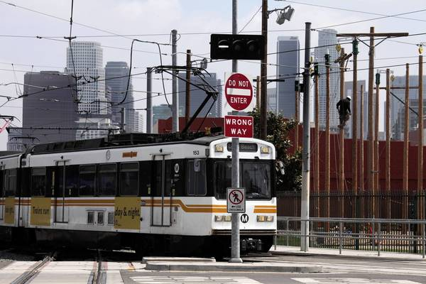 The busy junction of the Blue and Expo lines in downtown Los Angeles has been considered particularly dangerous because of a flaw that was causing excessive wear to wheel assemblies. A temporary repair has been in place while a permanent solution was sought.