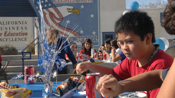 Sixth-grader Ardrey Roy, 11, has lunch at Martin Luther King Jr. Elementary School in El Centro on Tuesday.