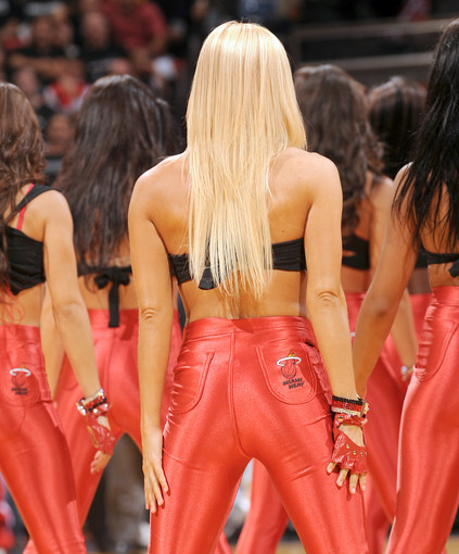 Photos: Miami Heat Dancers in action - Miami Heat dancers perform
