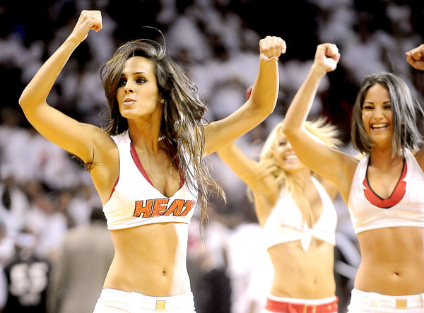 Photos: Miami Heat Dancers in action - Miami Heat vs. Philadelphia 76ers