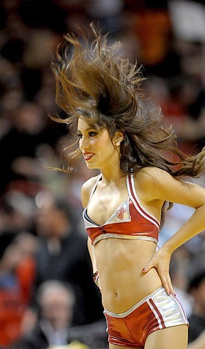 <b>Photos:</b> Miami Heat Dancers in action - Hair raising