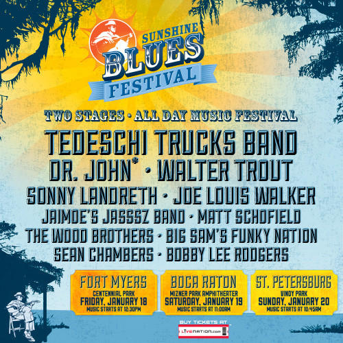 Win two tickets SunShine Blues Festival!