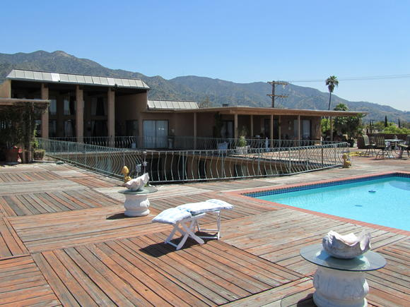 A view of the penthouse pool at the Villa apartments in Burbank.