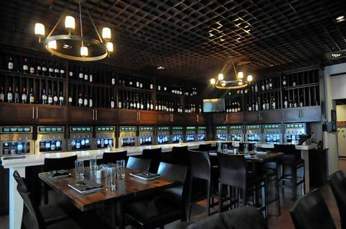 The wine bar at Vinted in Blue Back Square in West Hartford offers a wide variety of wines.