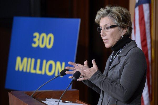 Sen. Barbara Boxer presents legislation to strengthen school safety on Capitol Hill.