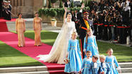 Princess Stephanie of Luxembourg and Prince Guillaume of Luxembourg get married Oct. 20, 2012