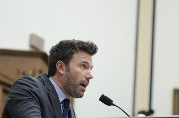 Ben Affleck testifying Wednesday before the House Armed Services Committee hearing on the Democratic Republic of the Congo.