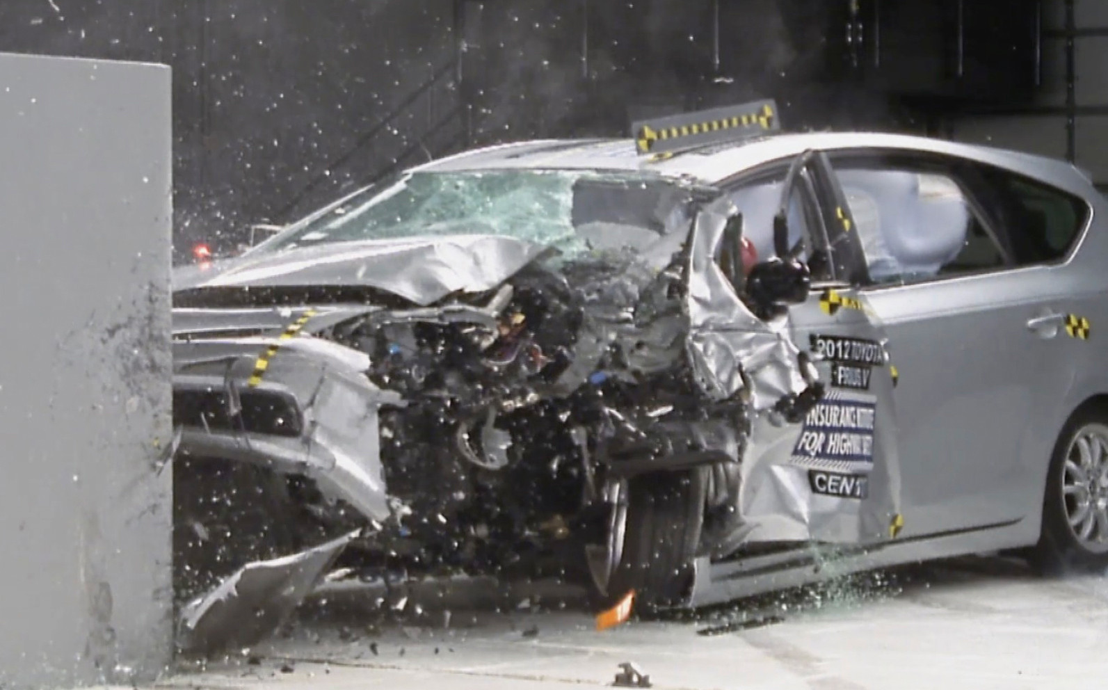 Crash test crumples two of toyota s top sellers camry and prius v la times