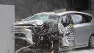 Crash test crumples two of Toyota's top sellers: Camry and Prius v