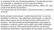 The phony Facebook copyright post