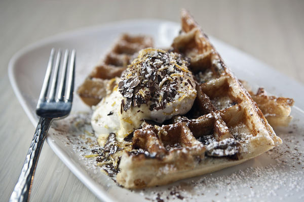 "<a href=""http://chicago.metromix.com/venues/mmxchi-waffles-venue"" target=""_"">Waffles, 1400 S. Michigan Ave.</a>, in the South Loop. <p><a href=""http://chicago.metromix.com/stories/1329-chicago-food-porn"" target=""_"">See photos of Chicago's top restaurants by cuisine here</a>."