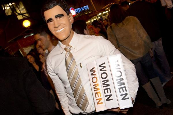 "Before the presidential debate had even ended, Mitt Romney's ""binders full of women"" gaffe had inspired memes and widespread mockery. With Halloween around the corner, it also inspired enough <a href=""http://bindersfullofwomen.tumblr.com/"">interpretations</a> to fill a binder. Though in the long term Romney's comment may not have hurt his candidacy, it reinforced his image as a gaffe-prone candidate -- and showed the power of the Internet in never letting a good gaffe go to waste."