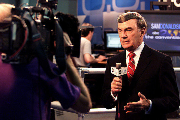 Sam Donaldson, shown at the Republican National Convention in 2000, was reportedly arrested this month on suspicion of DUI.