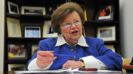 In an unexpected move that could have significant implications for Maryland, Sen. Barbara A. Mikulski will be named the first female chair of the powerful Senate Appropriations Committee on Thursday.