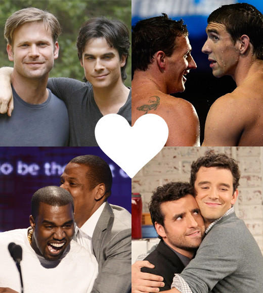 Zap2it's 25 Top Bromances of 2012: There are few things more compelling than an epic bromance, whether its purely platonic, hidden beneath a public rivalry, or the sort of things people write thousand and thousands of fan fiction stories about on Tumblr. 2012 was a great year for bromance -- from the Chris Christie/Barack Obama bromance that proved bros could transcend party lines, to The Vampire Diaries Damon and Alaric who proved that even death cant stop bros from bro-ing out. Here are the 25 bromances that made 2012 a bromarkable year.  --Carina Adly MacKenzie, Zap2it