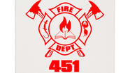 Fahrenheit 451 fire department shirt