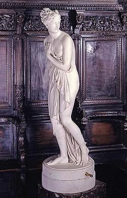"Antonio Canova carved ""Venus Italica"" between 1804 and 1814. The ""Hearst the Collector"" exhibition at the Los Angeles County Museum of Art is showing about 150 artworks that once belonged to William Randolph Hearst."