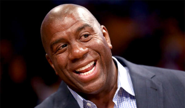 Magic Johnson said he would not talk about the Lakers on Twitter until the team had won three games in a row.