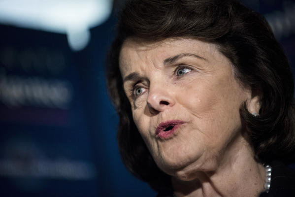 Committee chairman Senator Dianne Feinstein (D-Calif.) is seen speaking to reporters after a closed briefing of the Senate Select Committee on Intelligence in Washington, D.C.