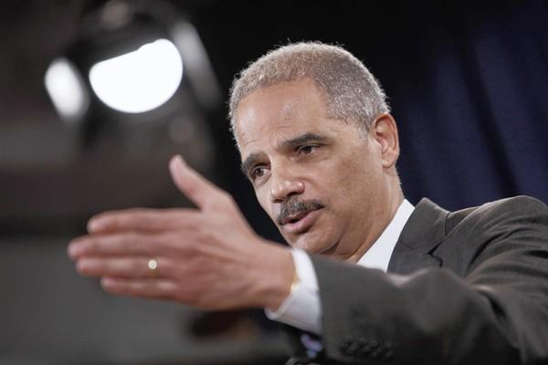 Atty. Gen. Eric H. Holder Jr. discusses the UBS case Wednesday at the Justice Department.